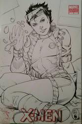 Xmen Jubilee Inks Sketchcover  by SaviorsSon
