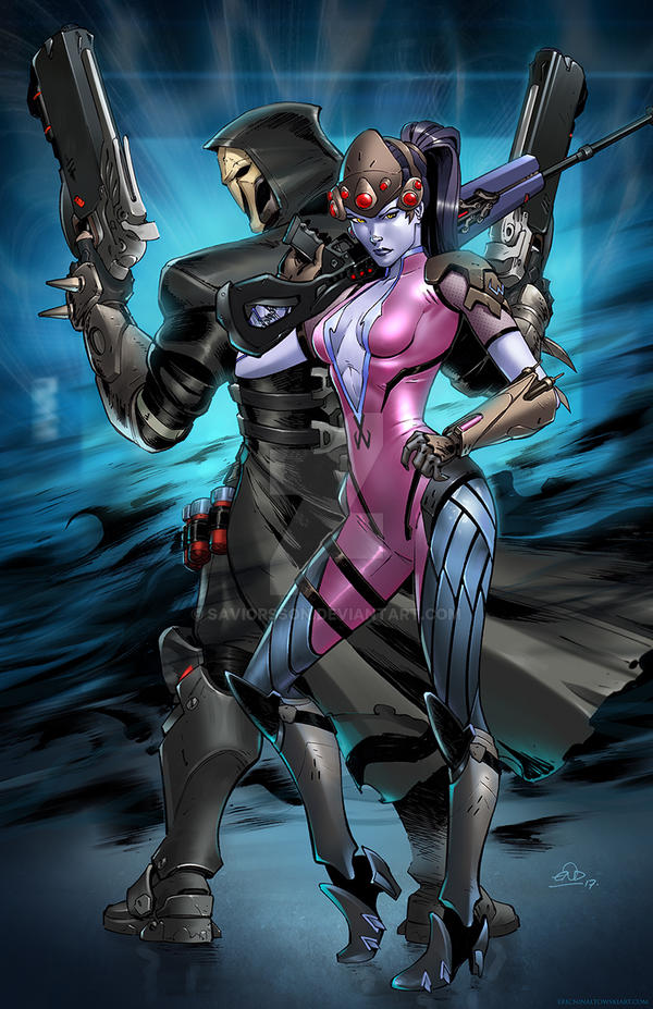 Widowmaker and Reaper Overwatch  by SaviorsSon