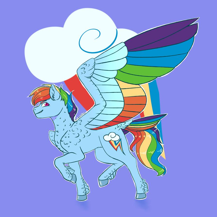 MLP FiM: Rainbow Dash by McEdgelord