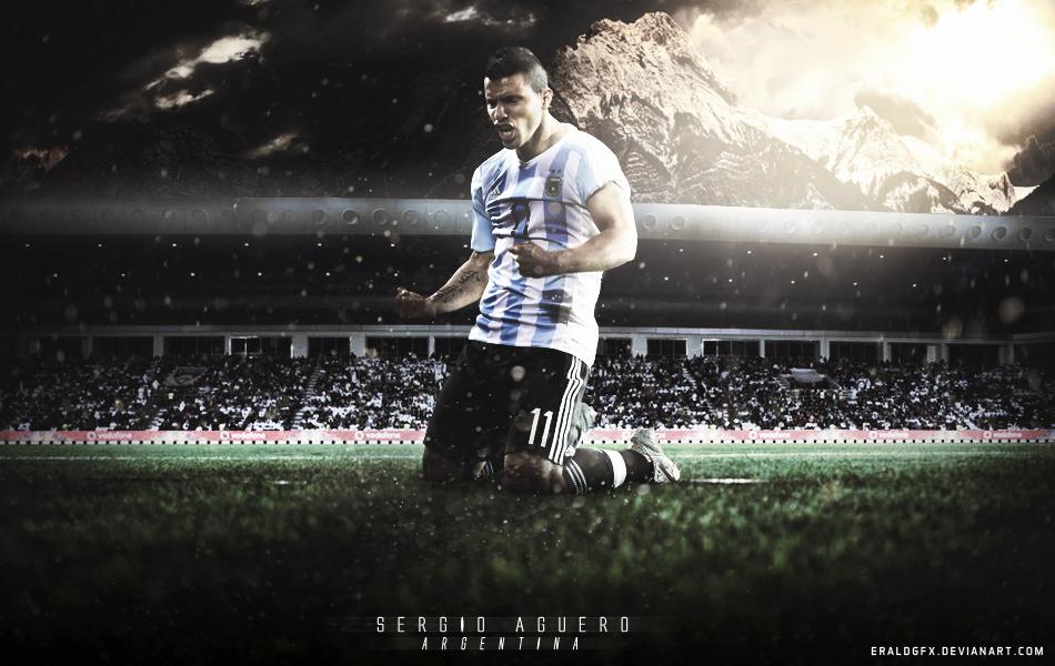 Sergio Aguero WALLPAPER Argentina 2015 By EraldGFX On