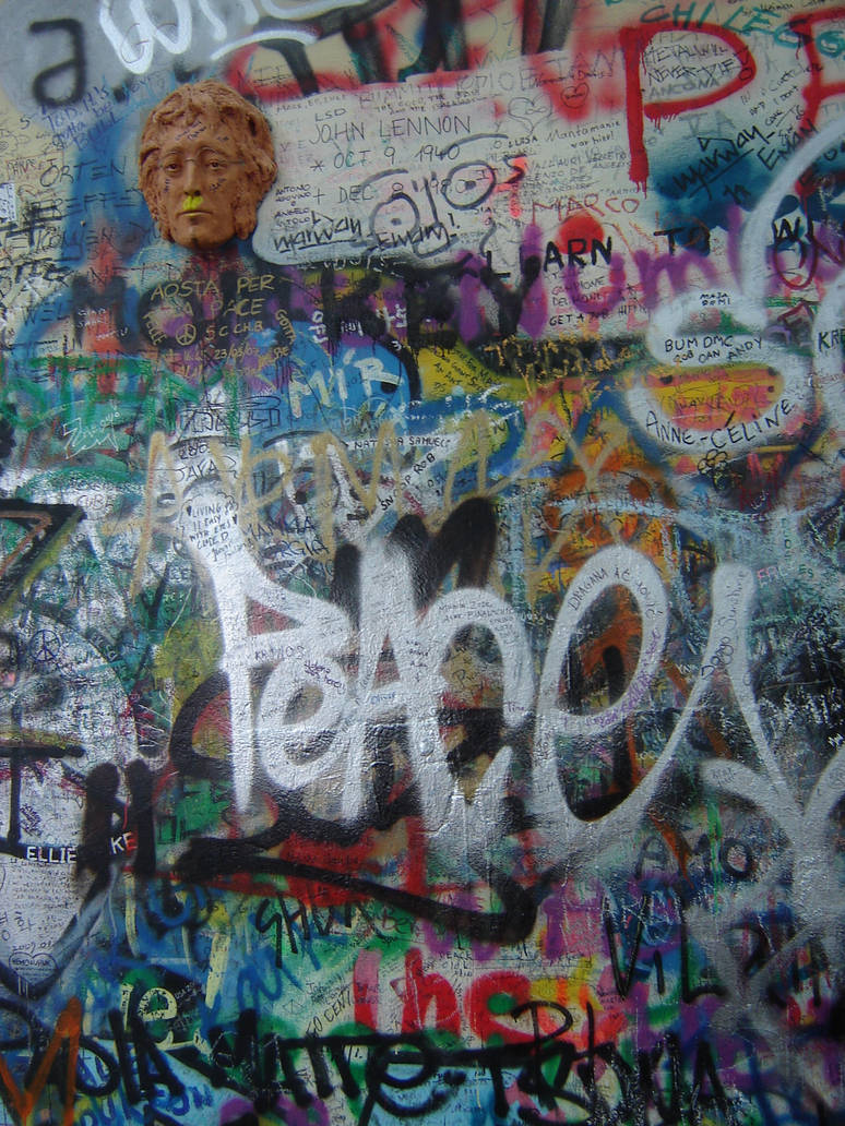 Prague Peace Graffiti by Amor-Fati-Stock
