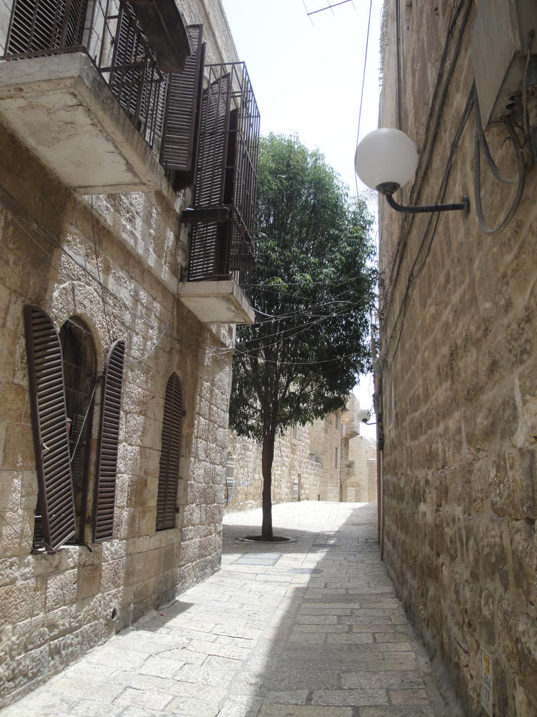 Jerusalem Street View by Amor-Fati-Stock