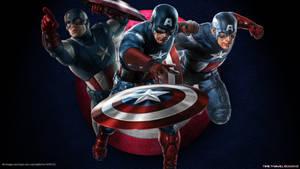 Captain America Wallpaper by Timetravel6000v2