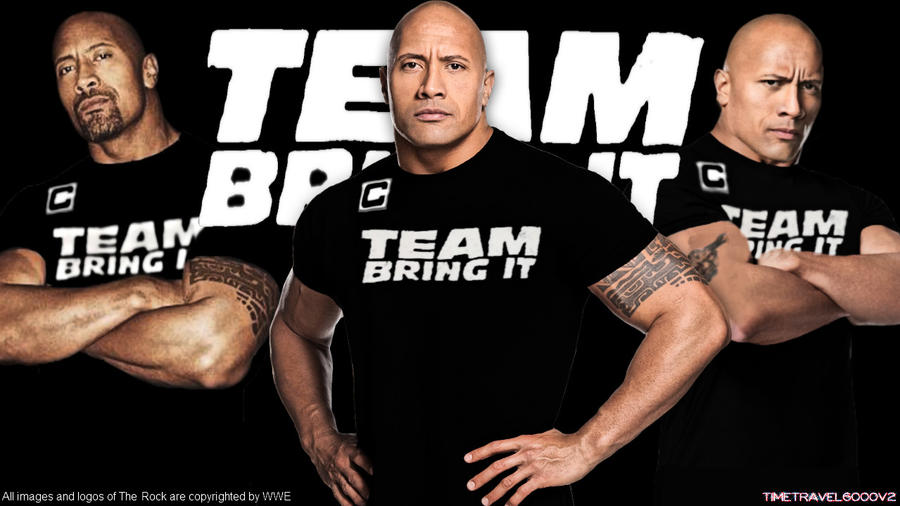 WWE The Rock Wallpaper HD By Timetravel6000v2