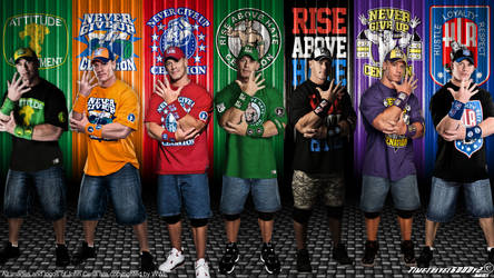 WWE John Cena Multi-Color Wallpaper Widescreen by Timetravel6000v2