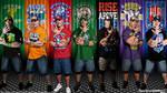 WWE John Cena Multi-Color Wallpaper Widescreen