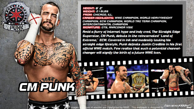 WWE CM Punk ID Wallpaper Widescreen