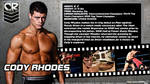 WWE Cody Rhodes ID Wallpaper Widescreen by Timetravel6000v2