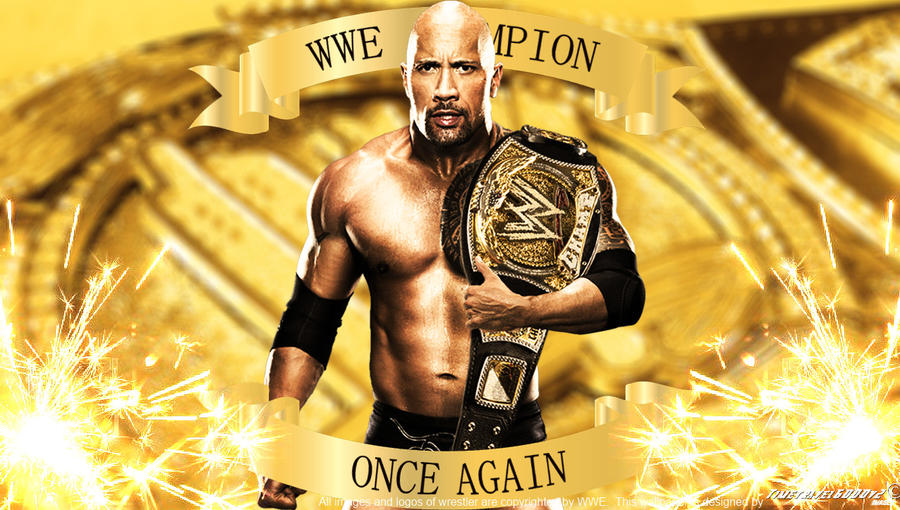 WWE The Rock Champion Once Again Wallpaper By Timetravel6000v2