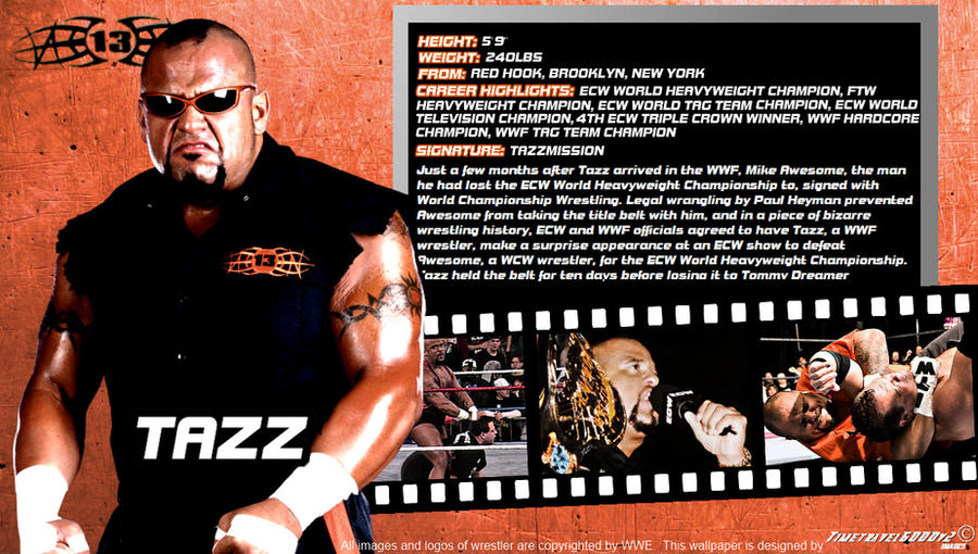 WWE Tazz ID Wallpaper Widescreen By Timetravel6000v2 On