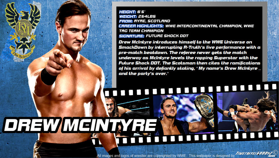 WWE Drew Mcintyre ID Wallpaper Widescreen By