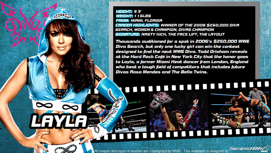 WWE Layla ID Wallpaper Widescreen by Timetravel6000v2