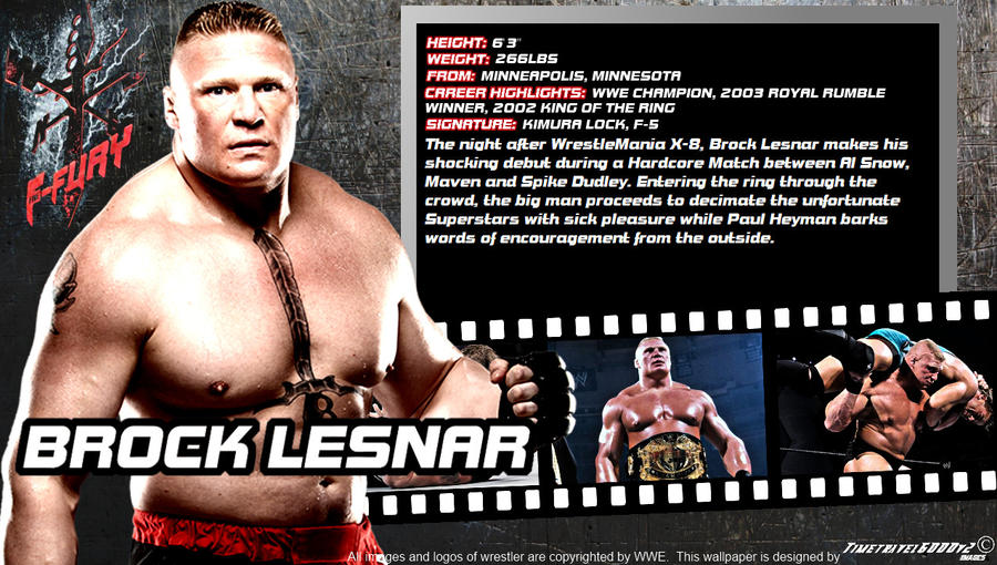 WWE Brock Lesnar ID Wallpaper Widescreen By Timetravel6000v2