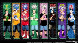 WWE John Cena Multi-Color Wallpaper Widescreen V2