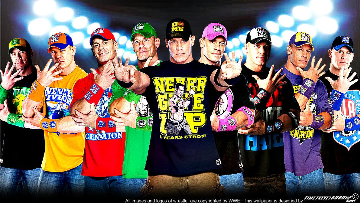 Wwe John Cena Multi Color Wallpaper Widescreen V3 By