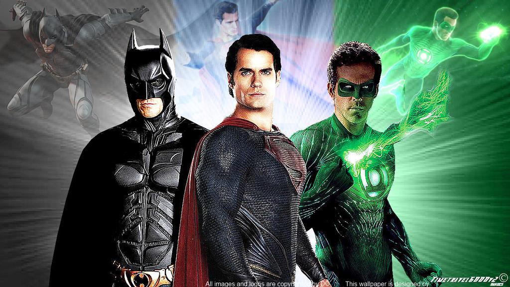 Superman Batman And Green Lantern Wallpaper Widesc By Timetravel6000v2