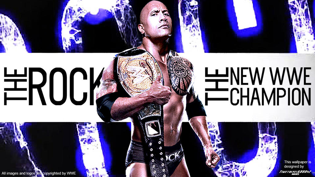 The Rock WWE Champion 2013 Widescreen Wallpaper By Timetravel6000v2