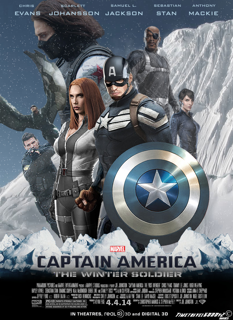 Captain America The Winter Soldier Poster By Timetravel6000v2 On Deviantart