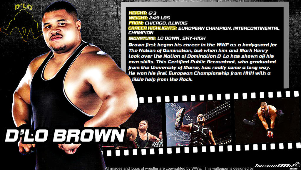 WWE D'Lo Brown ID Wallpaper Widescreen By Timetravel6000v2