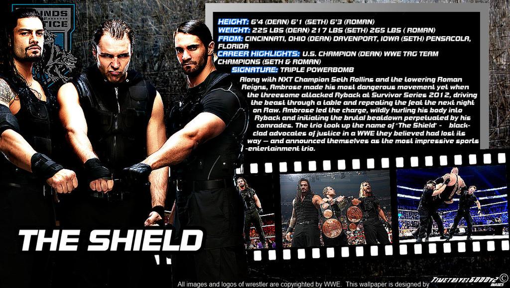 wwe the shield id wallpaper widescreen by timetravel6000v2