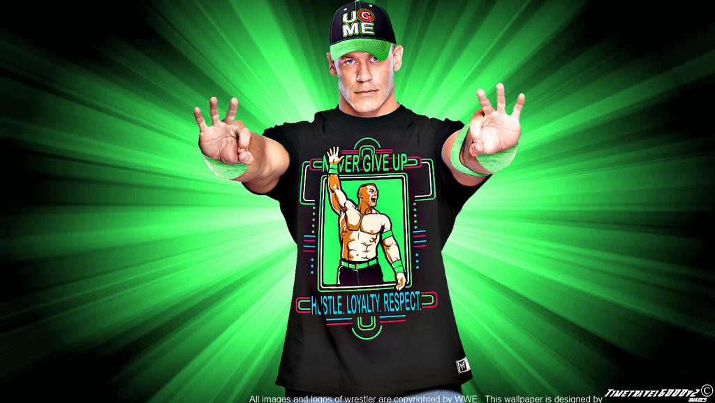 WWE John Cena Neon 2014 Wallpaper Widescreen By Timetravel6000v2