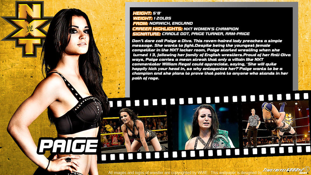WWE Paige ID Wallpaper Widescreen By Timetravel6000v2 On