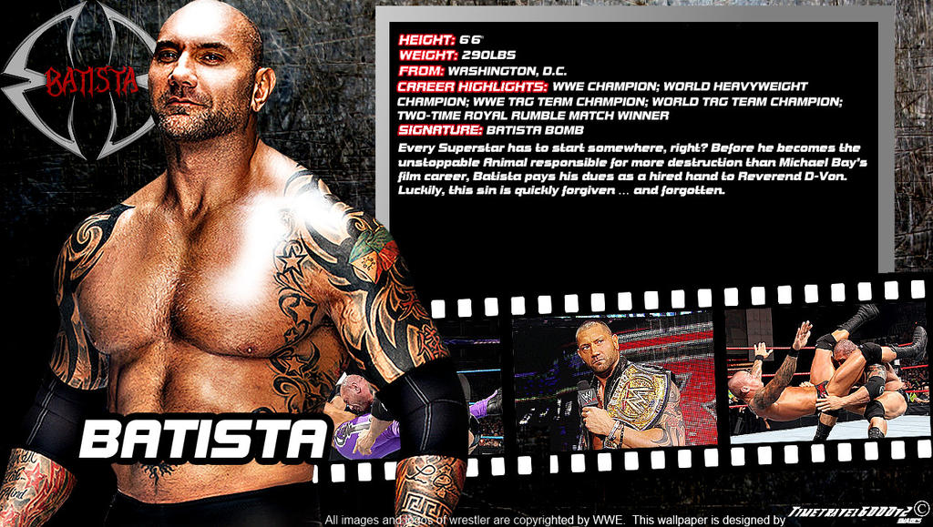 WWE Batista ID Wallpaper Widescreen By Timetravel6000v2 On