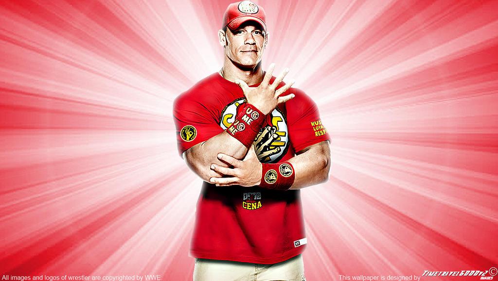 WWE John Cena Red Wallpaper Widescreen 2014 By Timetravel6000v2
