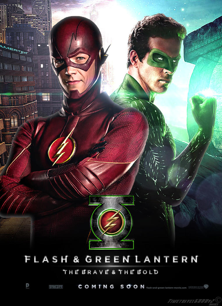 Flash And Green Lantern Movie Poster By Timetravel6000v2