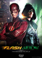 The Flash and Arrow TV Poster by Timetravel6000v2