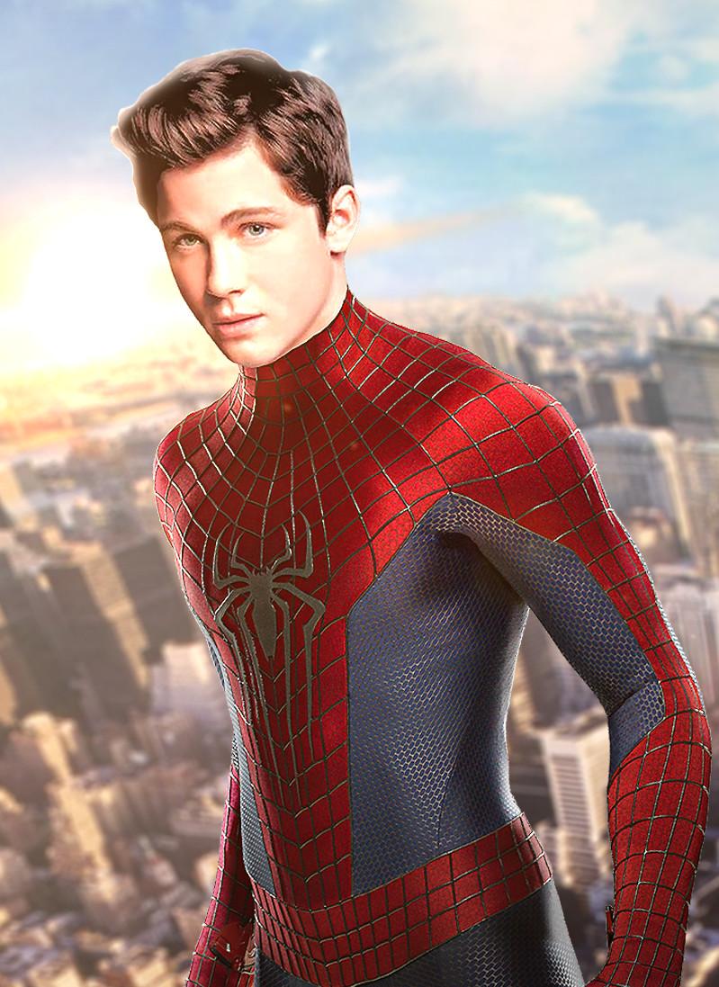 Logan Lerman as MCU's Spider-man by Timetravel6000v2 on DeviantArt