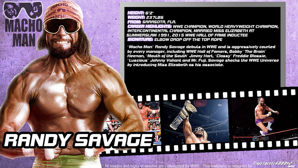 WWE Randy Savage ID Wallpaper Widescreen By Timetravel6000v2
