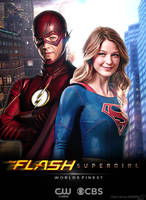 The Flash and Supergirl TV Poster V2 by Timetravel6000v2