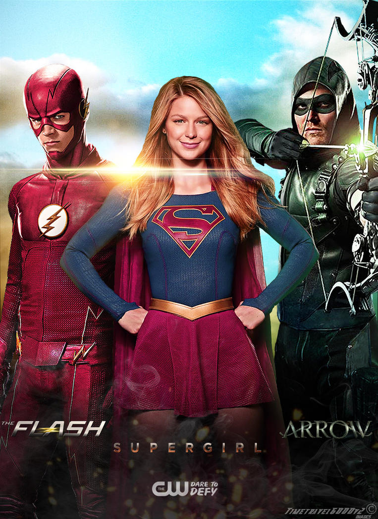 The Flash Supergirl Arrow Cw Poster By Timetravel6000v2 On