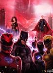 Justice League/Power Rangers Live Action Poster