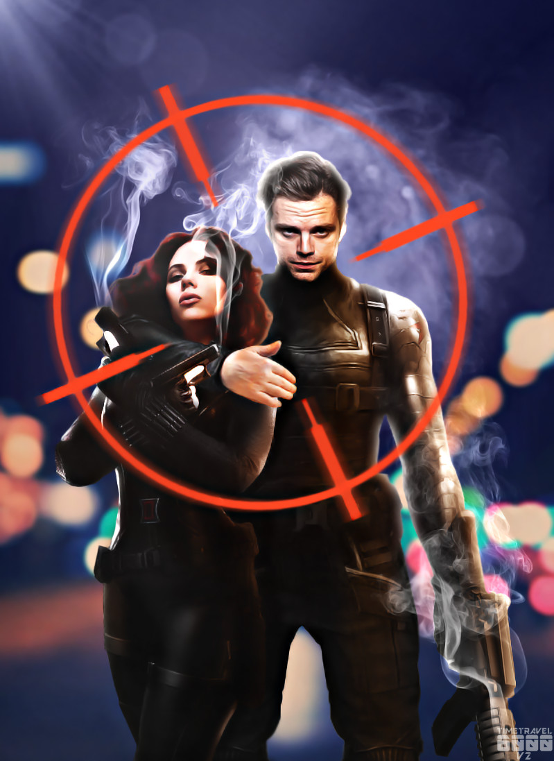 Black Widow and The Winter Soldier by Timetravel6000v2