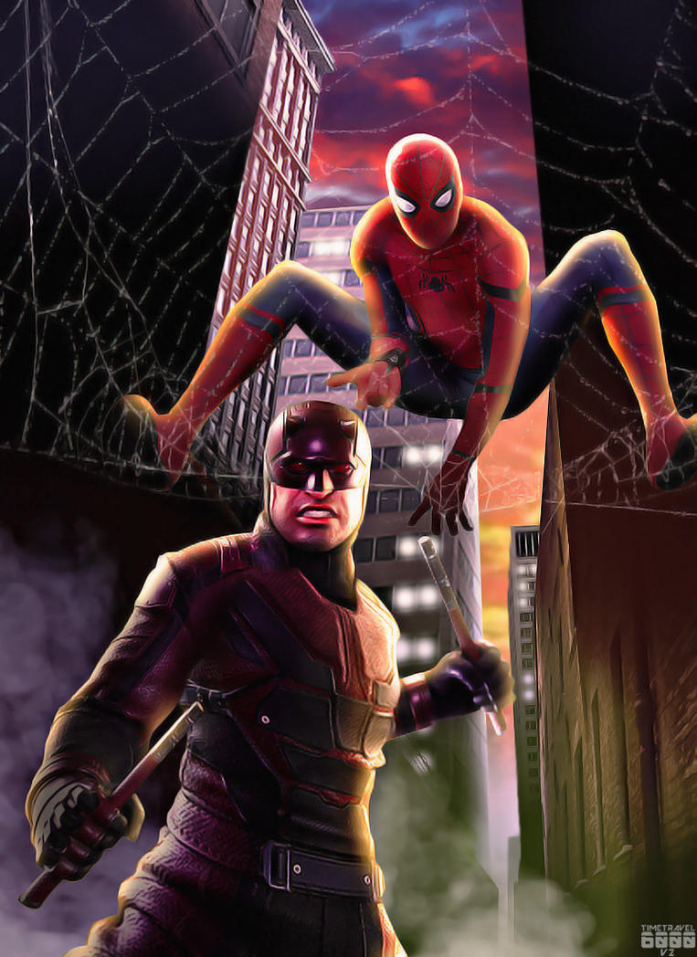 Daredevil and Spider-man Poster by Timetravel6000v2