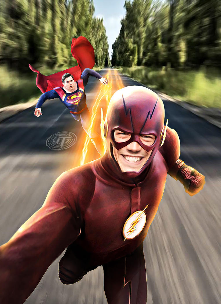 The Flash and Superman Selfie by Timetravel6000v2