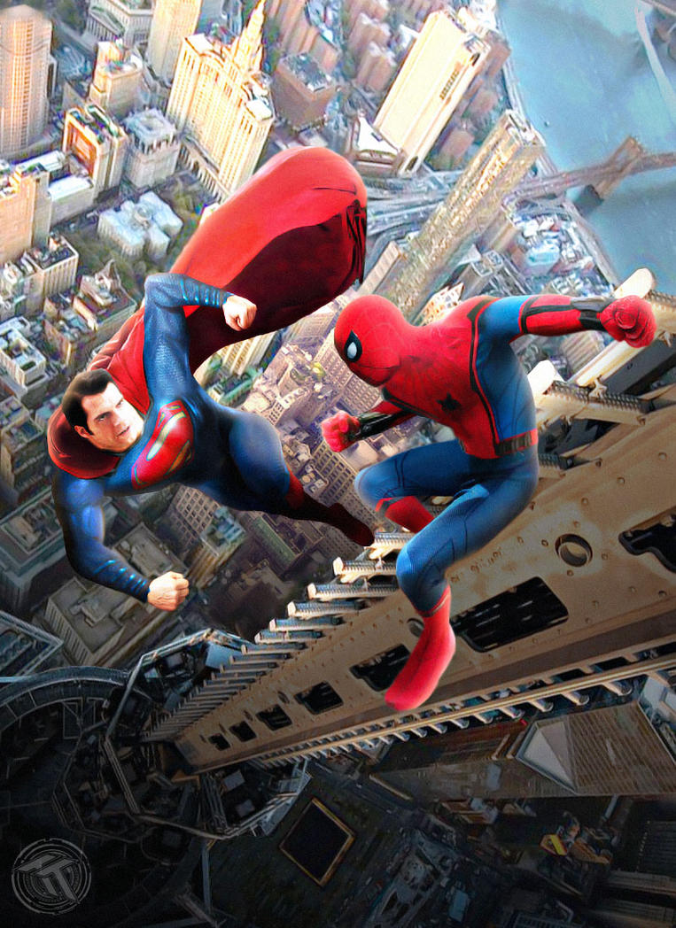 Superman vs Spider-man by Timetravel6000v2