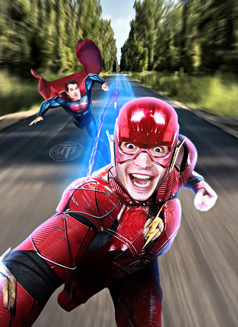 The Flash and Superman Selfie DCEU Version by Timetravel6000v2