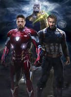 Avengers Infinity War Captain America and Iron man by Timetravel6000v2