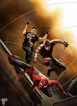 Spider Man Daredevil and The Punisher