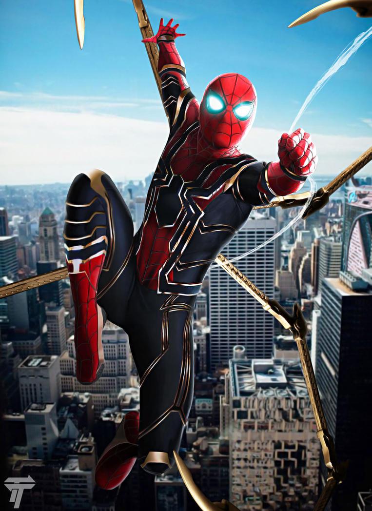 Iron spider by timetravel6000v2 on deviantart - Iron man spiderman wallpaper ...