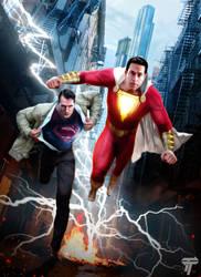 Shazam and Superman by Timetravel6000v2