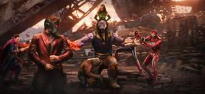 Avengers vs Thanos by Timetravel6000v2