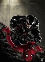 Spider-man vs Venom by Timetravel6000v2