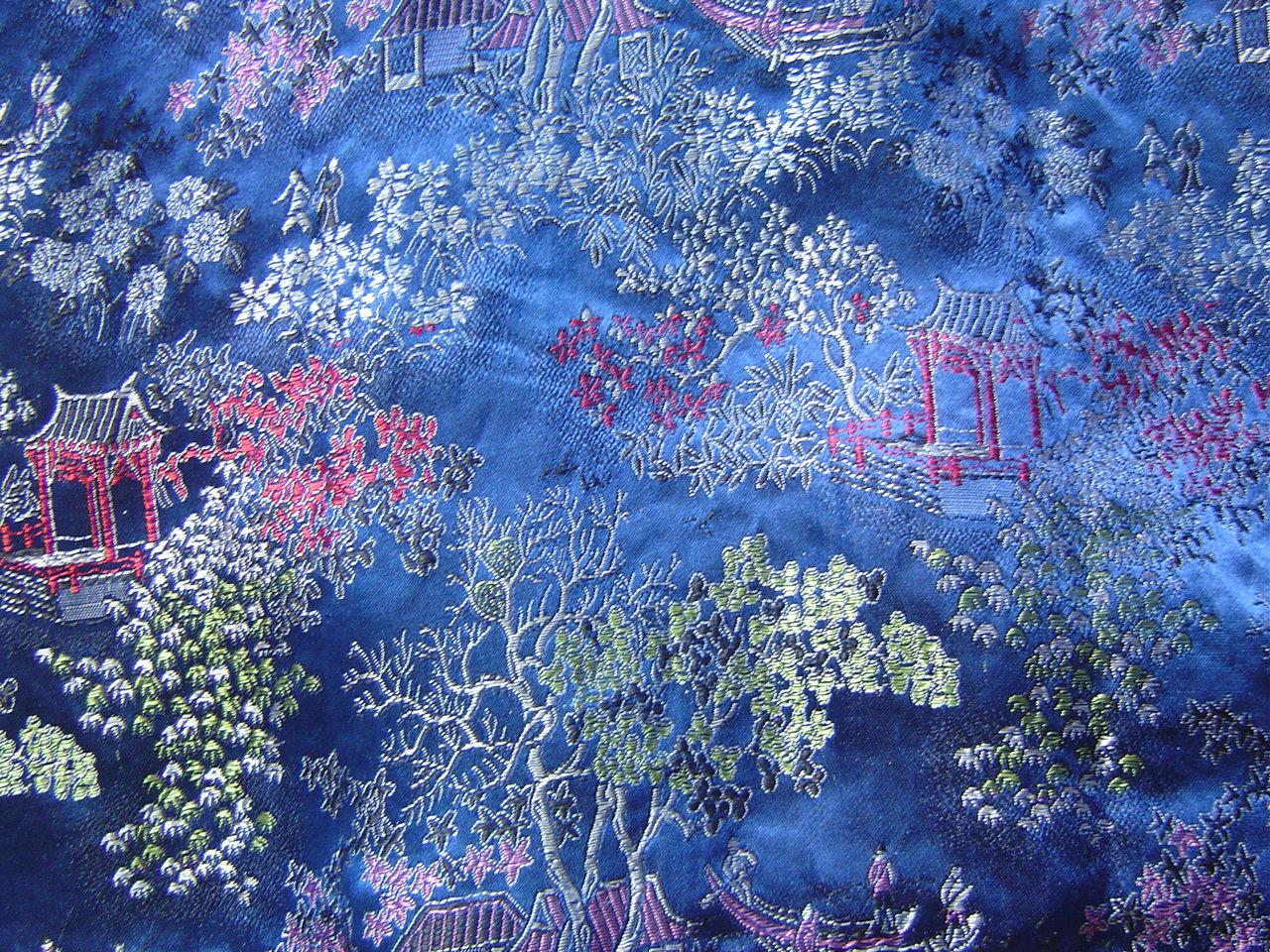 ms39-Blue Oriental Fabric