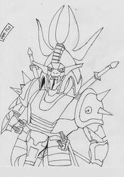Naaza in armor by yami-samuraiflo