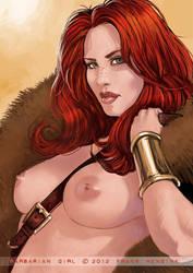 Barbarian Queen by FransMensinkArtist