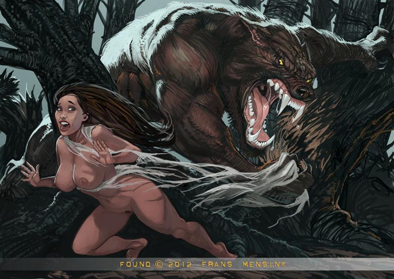 Рисованное порно секс с оборотнями